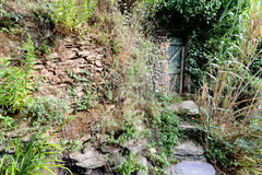 Abandoned doorway in nature Royalty Free Stock Photography