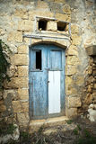 Abandoned doorway. In an old farm building royalty free stock photo