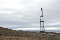 Abandoned drilling tower Stock Photography