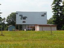 Abandoned Drive In. Abandoned drive-in movie theater in West Virginia Stock Photo