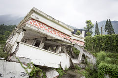 Abandoned earthquake ruins Royalty Free Stock Photography