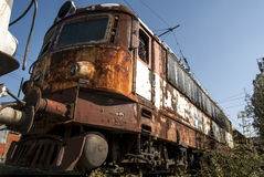 Abandoned electric locomotive Stock Photography