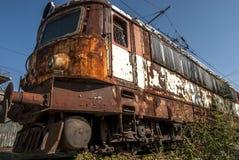 Abandoned electric locomotive Stock Photo