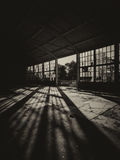 Abandoned empty factory building on sunny summe day.  Stock Photography