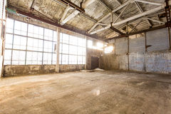 Abandoned empty room in an old factory Stock Photo
