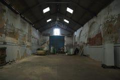 Abandoned empty warehouse. Royalty Free Stock Photo