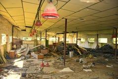 Abandoned empty warehouse Stock Photos
