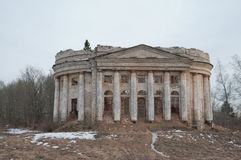 Abandoned estate with columned in Russia. Royalty Free Stock Photo