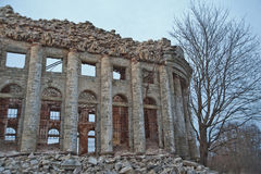 Abandoned estate with columned in Russia. Stock Image