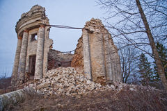 Abandoned estate with columned in Russia. Royalty Free Stock Photography