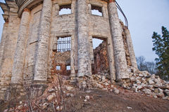 Abandoned estate with columned in Russia. Royalty Free Stock Images