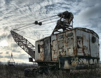 Abandoned Excavator Stock Image