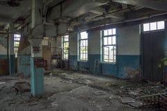Abandoned fördärvade det industriella seminariet Royaltyfri Foto