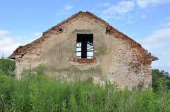 Abandoned fördärvar huset Royaltyfria Foton