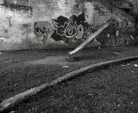 Abandoned förlägger läskigt ställe Arkivfoton