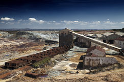 Abandoned Facilities. Former mining installations, now unused stock photography