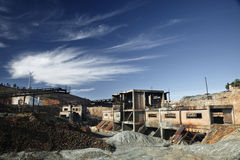 Abandoned Facilities. Former mining installations, now unused stock photos