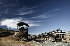 Abandoned Facilities. Former mining installations, now unused royalty free stock photos