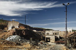 Abandoned Facilities. Former mining installations, now unused royalty free stock image