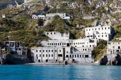 Abandoned factory. The abandoned factory on the Lipari Island in the Tyrrhenian Sea Stock Image