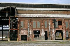Abandoned Factory. An old abandoned factory in Chattanooga, TN Stock Photo