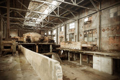 Abandoned factory. Been abandoned for years waiting for the demolition of the old factory royalty free stock photos