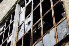 Abandoned Factory - Broken Windows Royalty Free Stock Photography