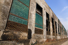 Abandoned factory building Royalty Free Stock Images