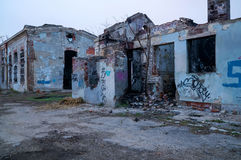 Abandoned factory building Royalty Free Stock Photos