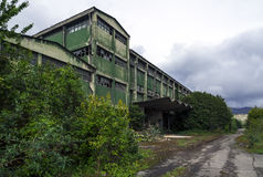 Abandoned factory building Stock Images