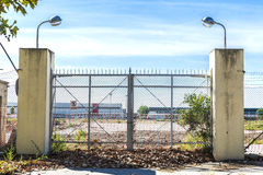 Abandoned factory closed Royalty Free Stock Photos