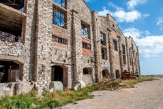 Abandoned factory exterior Royalty Free Stock Photos