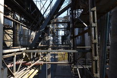 Abandoned factory. Abandoned oil chemical factory, wasted royalty free stock images