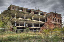 Abandoned factory. Old Armour Meat Packing company building royalty free stock photography