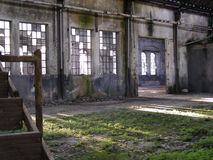 Abandoned factory ruins Stock Images