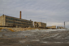 Abandoned factory scene Royalty Free Stock Photos