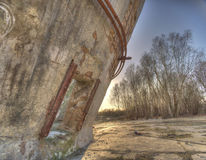 Abandoned factory silos Royalty Free Stock Image