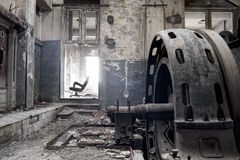 Abandoned factory. Abandoned spooky factory royalty free stock photography