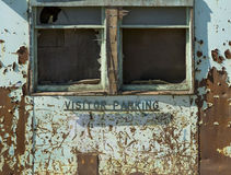 Abandoned Factory Visitor Parking Exterior Stock Images