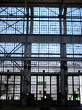 Abandoned Factory - Wall of Windows Royalty Free Stock Photography