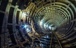 Abandoned fallout shelter. Abandoned soviet bunker under the city in Ukrain Stock Photo
