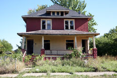 Abandoned 2 family home Royalty Free Stock Photography