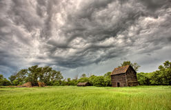 Abandoned Farm Buildings Saskatchewan Royalty Free Stock Images