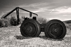 Abandoned farm equipment in Bodie State Park Royalty Free Stock Photos