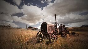 Abandoned Farm Equipment In Rural Colorado Royalty Free Stock Photo