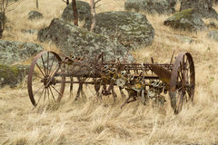 Abandoned farm equipment Royalty Free Stock Photo