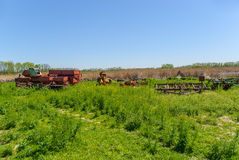 Abandoned farm equipment Royalty Free Stock Photo
