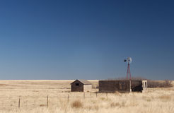 Abandoned farm on the high plains Royalty Free Stock Photo