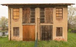 Abandoned farm. Italian abandoned old country farm Royalty Free Stock Image