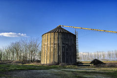 Abandoned farm silo Stock Photo